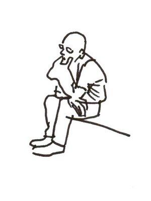 168. Man Sitting at The Metropolitan Museum of Art 9-9-2008
