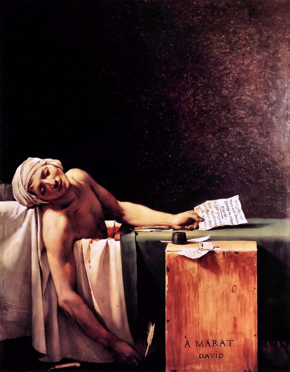 1793 - The Death of Marat - Jacques-Louis David - p817