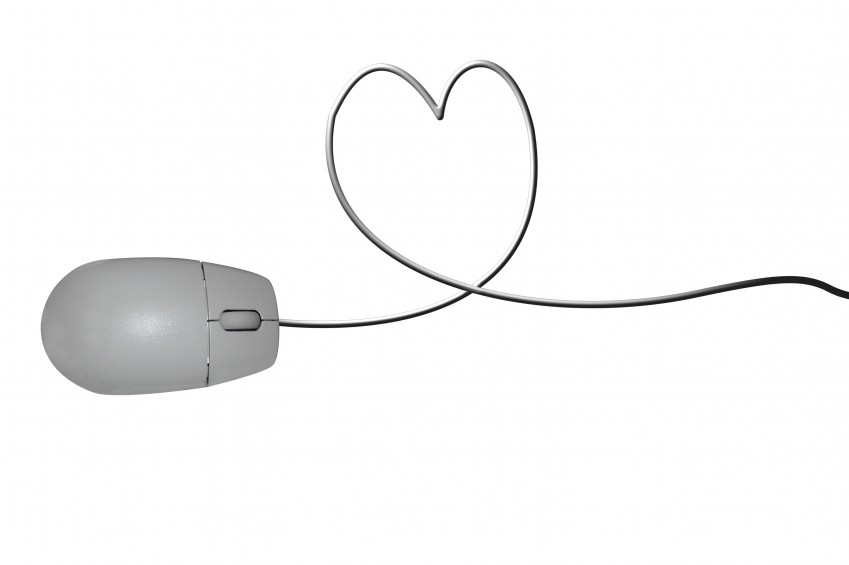 mouse and a heart
