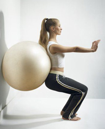 swiss-Ball-Squats